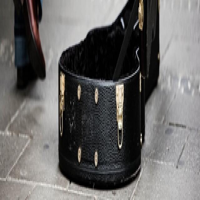 El retiro de un rondallero. Imagen de un estuche de guitarra en el piso.